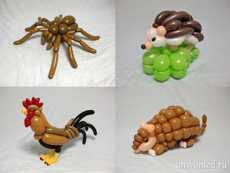 Фигурки как сделать фигурки из воздушных шаров 37