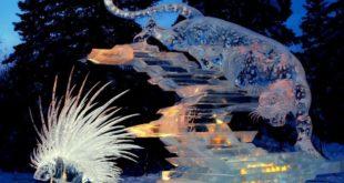 Смелые ледяные скульптуры Дзюнъити Накамура