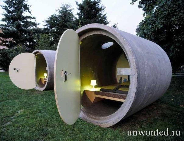 Комфортные модули из канализационных труб