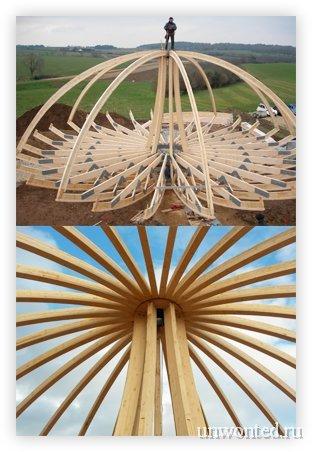 Каркас купольного эко-дома Domespace