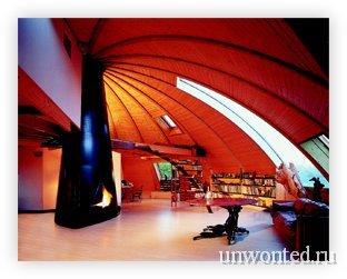 Комфорт в интерьере купольного эко-дома Domespace