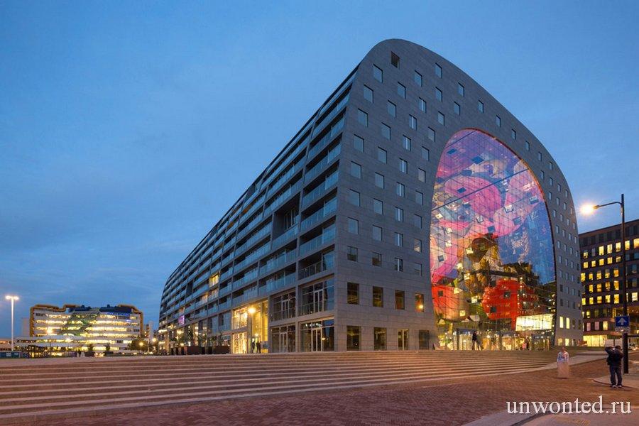 Необычный городской рынок Роттердама