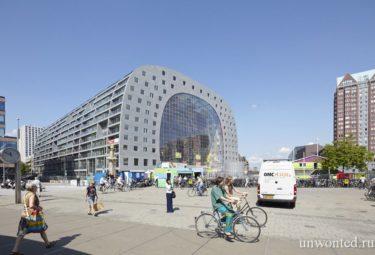 Площадь у городского рынка Роттердама
