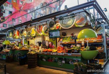 Торговые павильоны городского рынка Роттердама