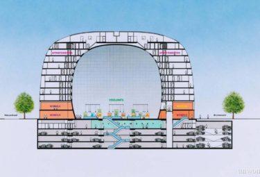 Поэтажная схема городского рынка Роттердама