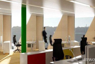Офисные помещения в необычном здании - шестерни
