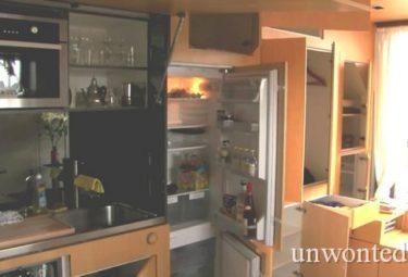 Необычная квартира - трансформер маленькая кухня