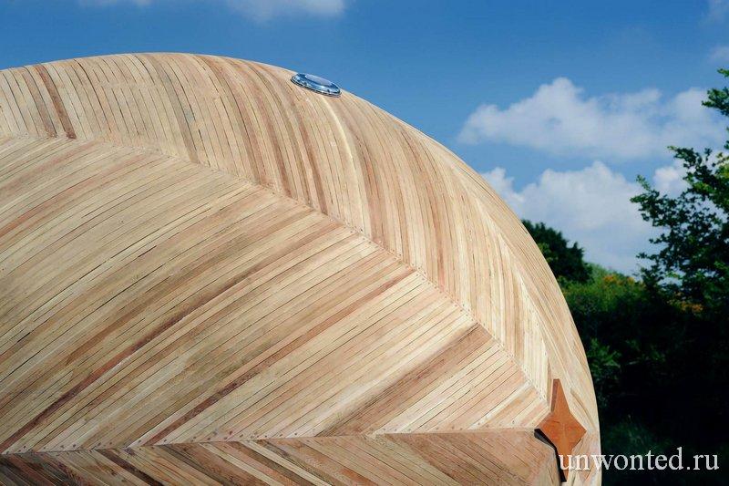 Экологичный домик Яйцо из переработанного дерева