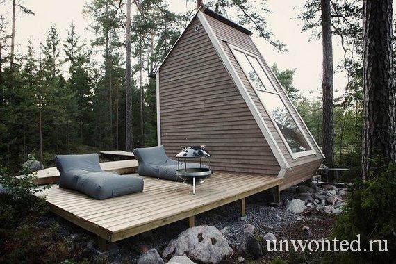 Открытая терраса маленького уютного дома Nido