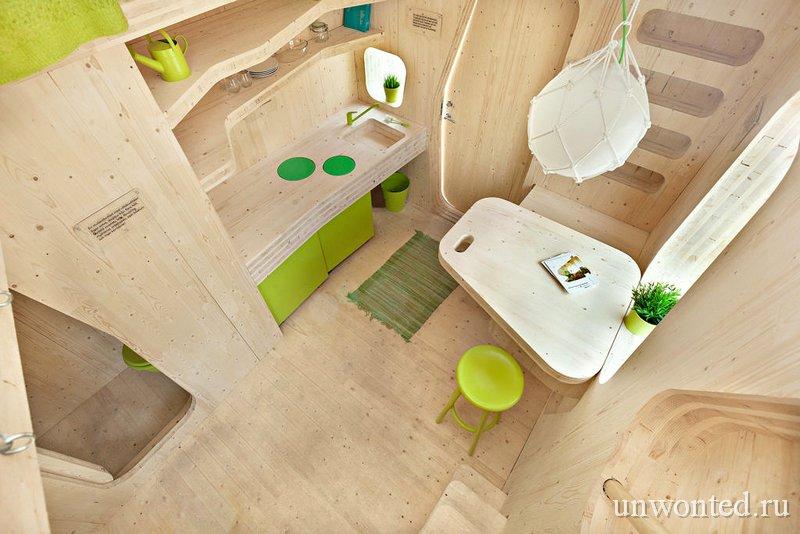 Жилое пространство в маленьком доме для студентов