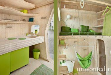 Интерьер маленького дома для студентов