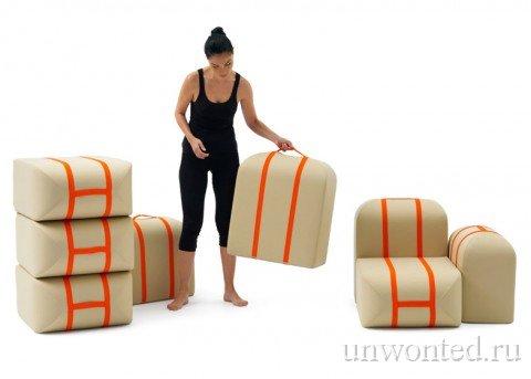 Модули дивана как отдельные места для сиденья