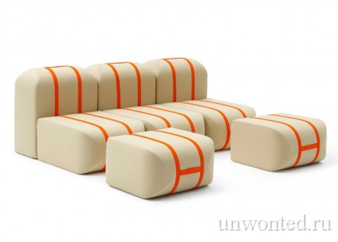 Необычный диван из независимых модулей