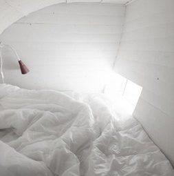 Спальное место в чешуйчатом мини-доме