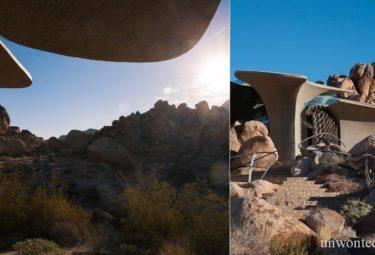 Дом в Пустыне на склоне скалистого холма