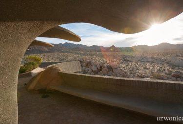 Терасса дома в пустыне Desert House