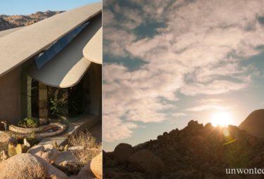 Дом в пустыне на рассвете