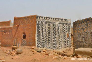 Необычные дома деревни Tiebele