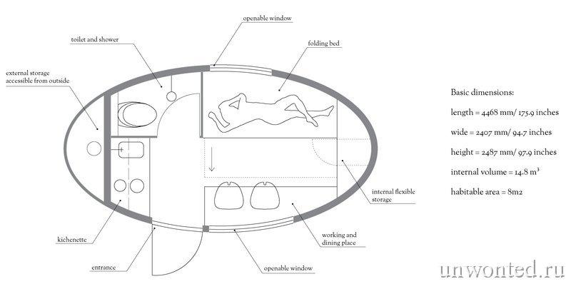 Планировка дома - Экокапсулы