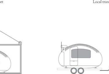 Транспортировка дома - Экокапсулы