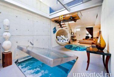 Квартира с бассейном в гостиной