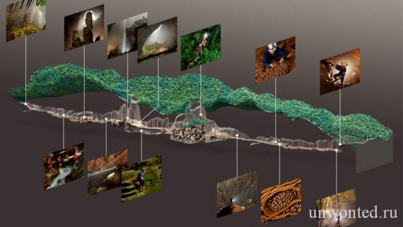 Пещера Шондонг - карта