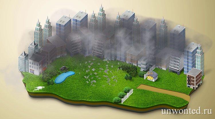 Смог в городском воздухе