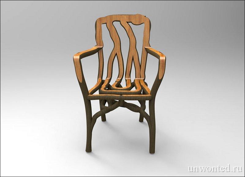 Деревянное кресло выросшее на грядках Full Grown
