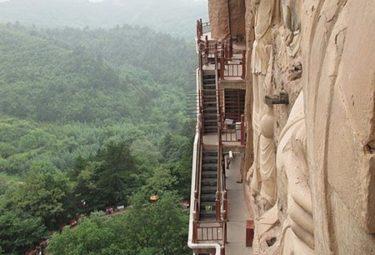 Вертикальные улочки - Пещерный монастырь Майцзишань