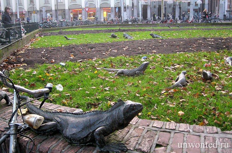 Необычные скульптуры мира - Парк игуан