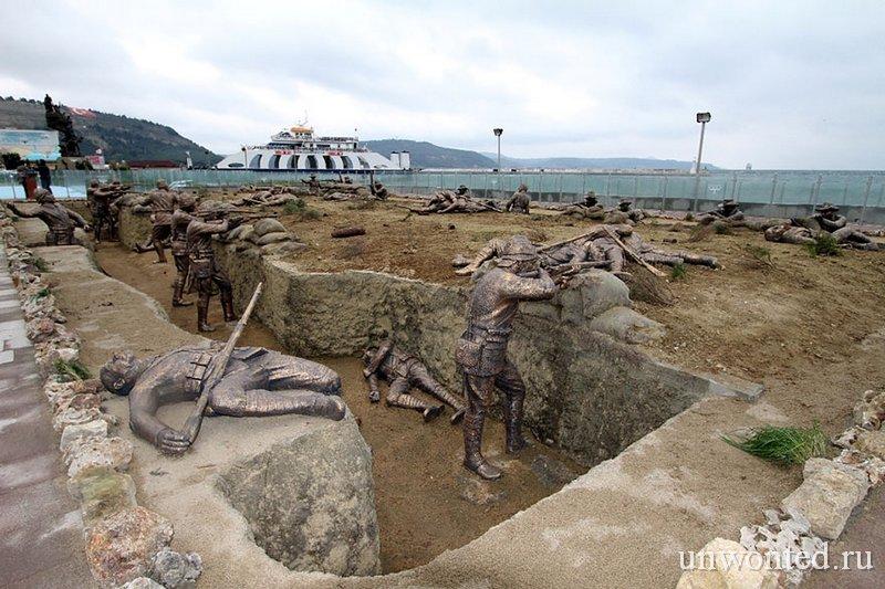 Необычные скульптуры мира - эпизод Первой мировой войны