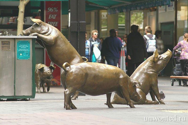 Необычные скульптуры мира - Свиньи