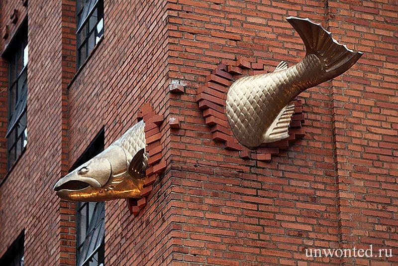 Необычные скульптуры мира - Лосось
