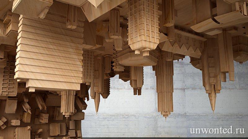 Макеты зданий - необычного кофейного столика Городская волна (Wave City)