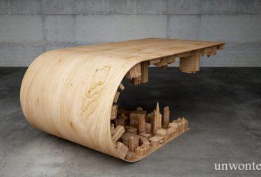 Необычный кофейный столик Wave City