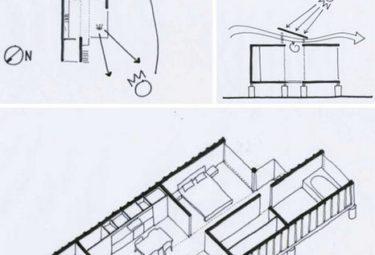Современный дом из контейнеров - рисунок планировки