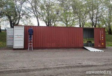 Подготовка контейнеров для строительства дома