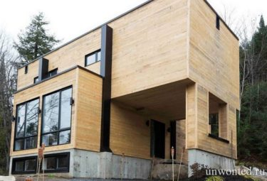 Дом из контейнеров с отделанным фасадом