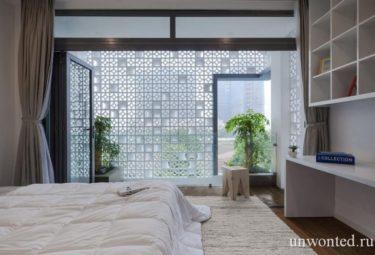 Дом Кокон - вид из спальни