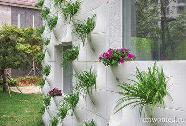 Вертикальное озеленение с панелямми Pocket Panel