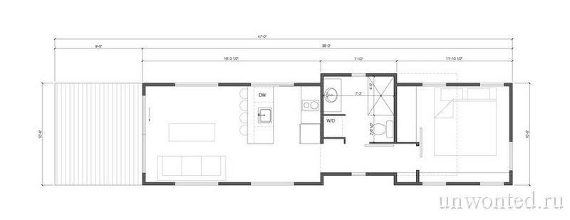 Передвижной дом Клин - схема планировки