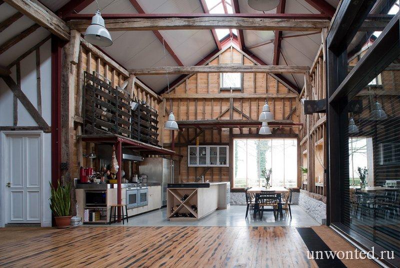 Старый амбар переделанный в дом