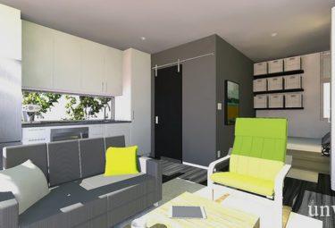 Жилое пространство дома в контейнерах