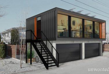 Солнечные панели на кре дома в контейнерах
