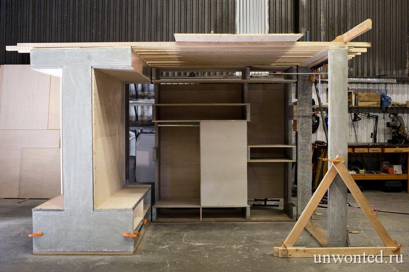 Многофункциональная конструкция для квартиры лофта
