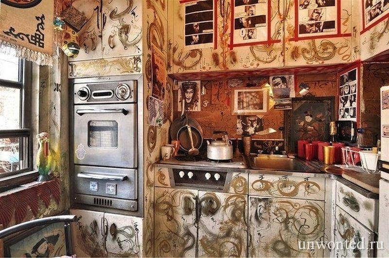 Сказочный интерьер квартиры - кухня