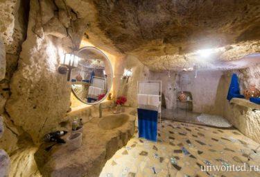Жилище в пещере - ванная комната