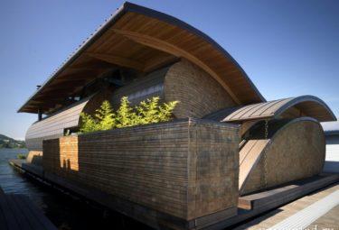 Плавающий дом Fennell Residence - вид сбоку