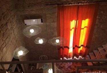 Оригинальные потолочные светильники соврменного лофта