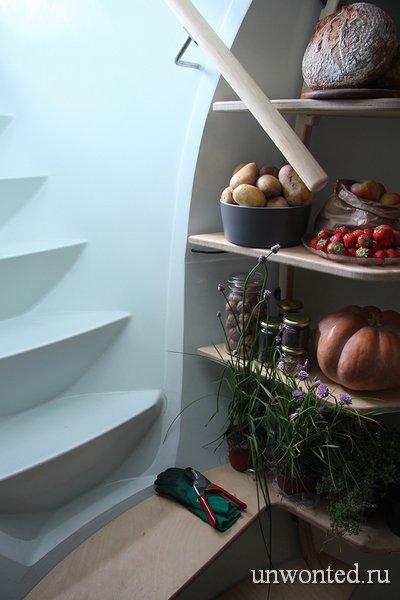 Современный пластиковый погреб для хранения продуктов